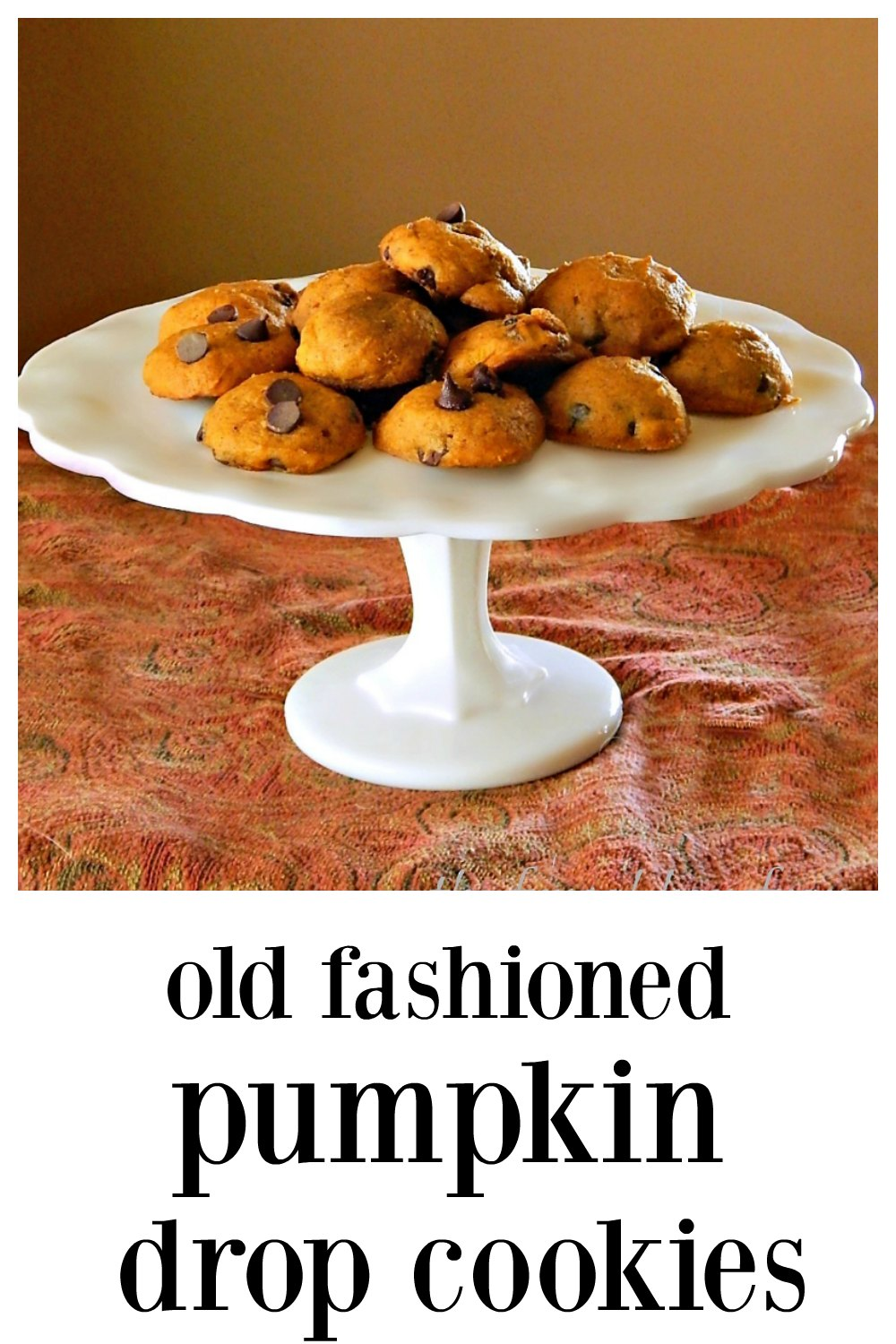 These easy mix in one bowl by hand Pumpkin Drop Cookies were a childhood fave, Start a tradition and introduce the next generation to them! Makes about 60 small cookies. Add raisins or chocolate chips. #PumpkinCookies #PumpkinDropCookies #PumpkinSpiceCookies