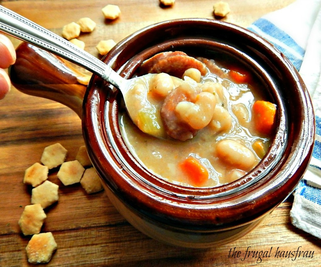 Smoked Sausage & White Bean Soup, Instant Pot or Stove Top