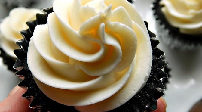 The Best Chocolate Cupcake with Vanilla American Buttercream