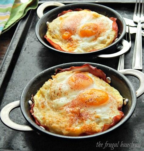 featherbed eggs ham custard bread savory french toast