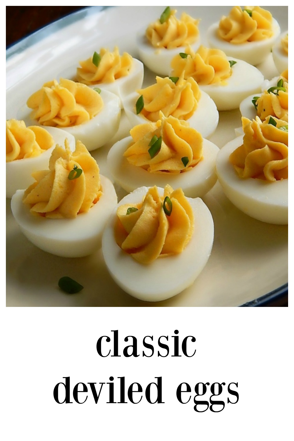 These Classic Deviled Eggs are glorious every time with no fuss or bother. I'm giving you all of my little tips and tricks to make the Best Deviled Eggs easy! Links to two recipes for Easy Peel Hard Boiled Eggs, one is steamed and the other an Instant Pot Recipe. #DeviledEggs #Cook'sIllustratedDeviledEggs #BestDeviledEggs #ClassicDeviledEggs