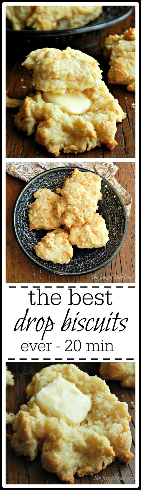 Drop Biscuits so good you'll be blown away, but even better 20 min to make & no buttermilk needed!