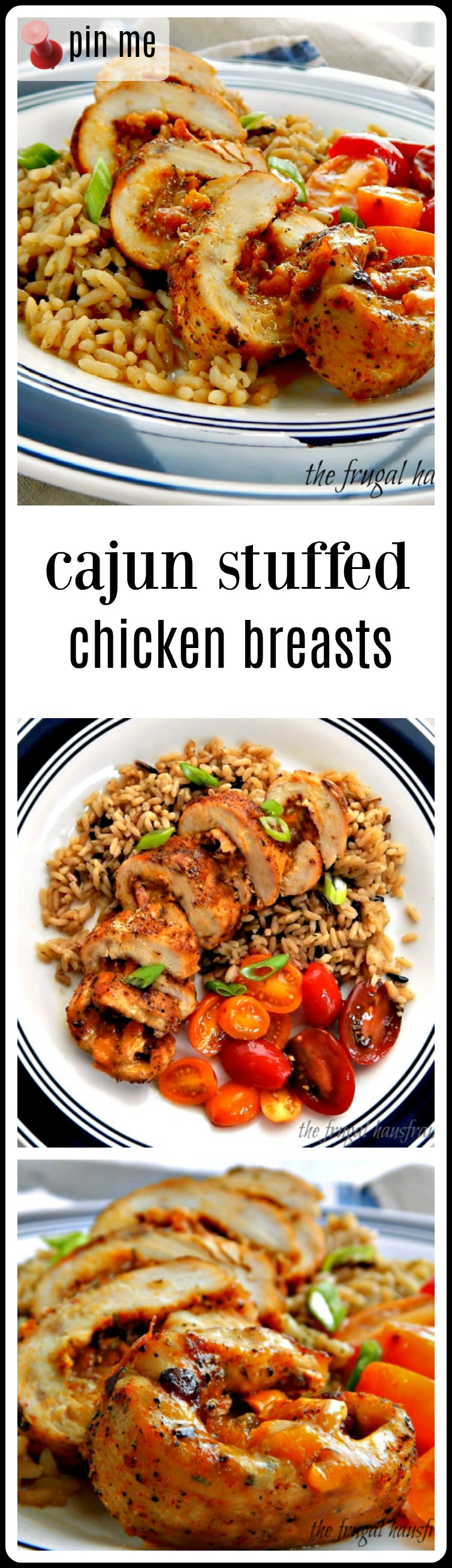 Cajun Stuffed Chicken Breast - stuffed with the classic New Orleans Trinity and Cheese! Ya gotta have cheese!! Very do-able and surprisingly quick. If your family is like mine, they're going to go nuts over Cajun Stuffed Chicken Breasts! #CajunStuffedChickenBreasts #CajunChicken #CajunChickenBreast #StuffedChickenBreast