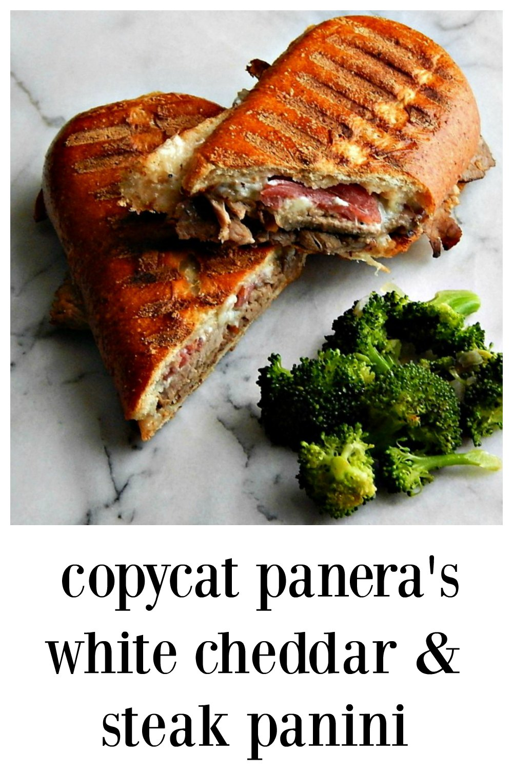 I broke out of my rut at Panera & tried a different sandwich - now I make my Copycat Panera Steak & White Cheddar Panini at home & I want them all the time! #CopycatPaneraSteakWhiteCheddarPanini #PaneraSteakPanini #PaneraSteakandWhiteCheddar Panini