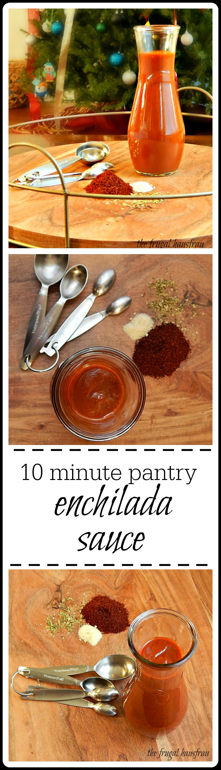 Pantry Enchilada Sauce: Under 10 minutes with ingredients you probably have at home and better than any canned or jarred enchilada sauce. #PantryEnchiladaSauce #HomemadeEnchiladaSauce #EasyEnchiladaSauce
