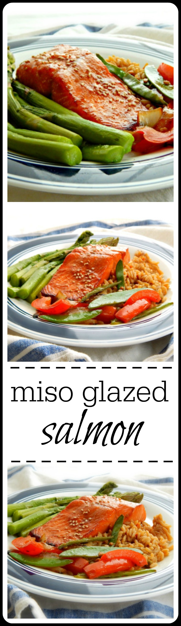 Miso Glazed Salmon - Super easy, super fast & Super tasty! Have a healthy dinner on the table in minutes! #MisoGlazedSalmon #MisoSalmon