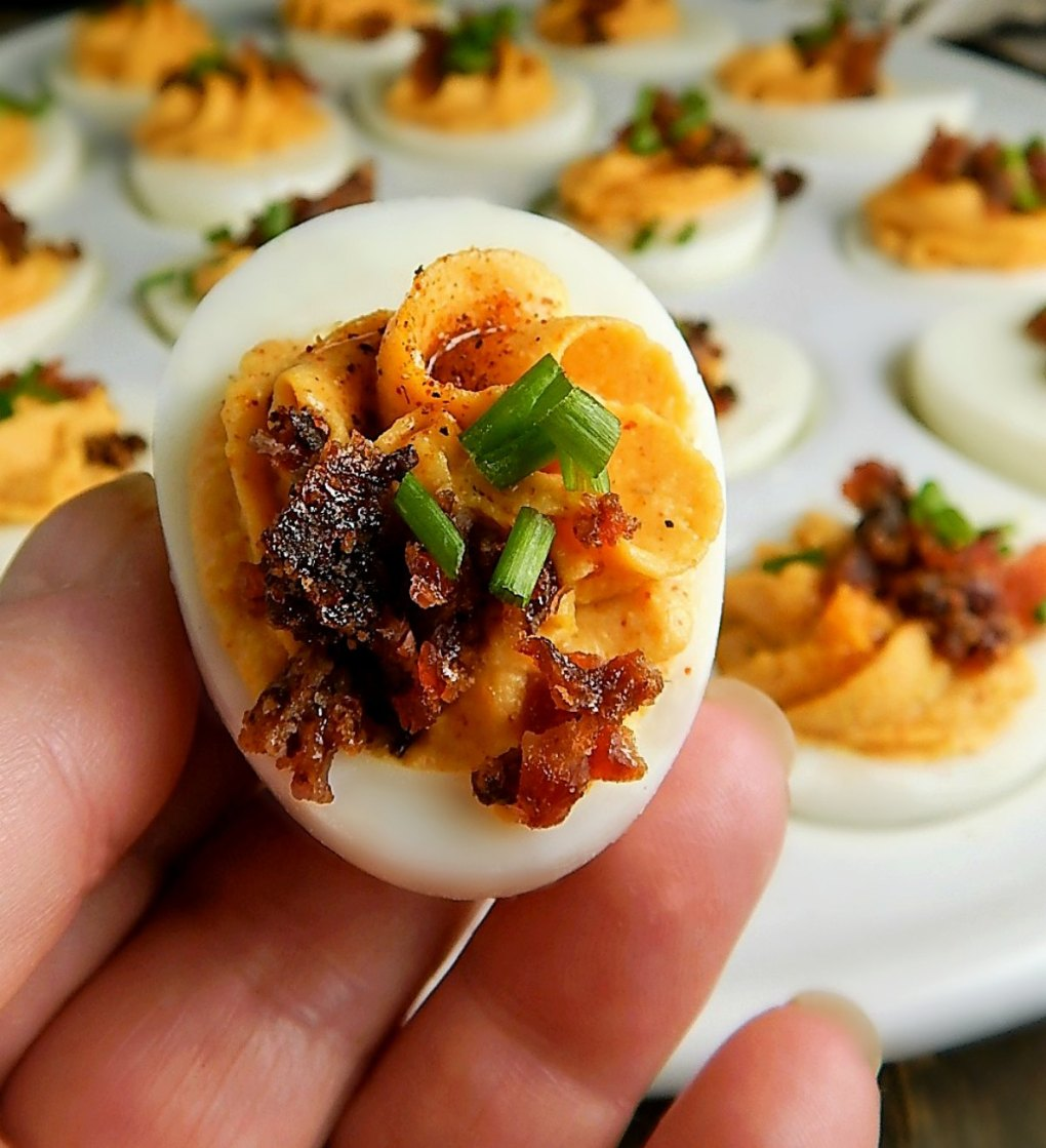 Deviled Eggs with Bacon & Smoked Paprika