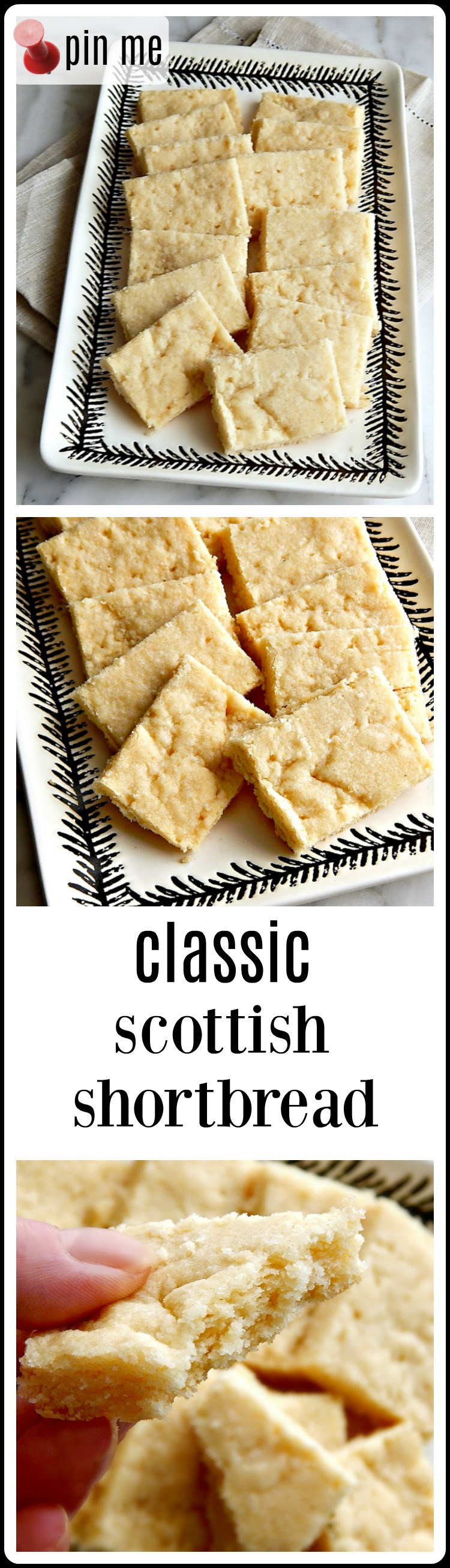 I love Classic Scottish Shortbread. Simple buttery melt in your mouth Shortbread. Ok, it's no Chocolate Chip Cookie, but other than that Classic Scottish Shortbread is everything. This recipe is so good, it will make a Scotsman Weep.