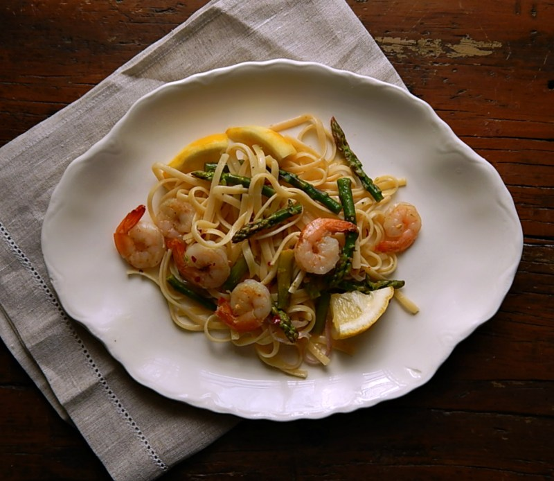 Lemon Shrimp & Asparagus Pasta