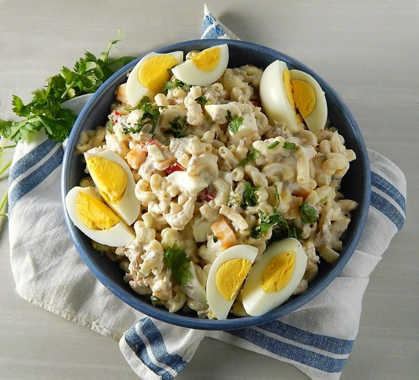 Old Fashioned Tuna Macaroni Salad with the Best Basic Hard Boiled Eggs