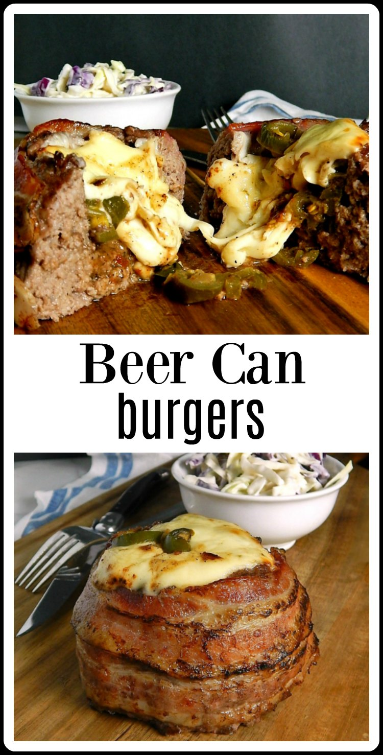 Beer Can Burgers - OMG INSANELY delicious! Perfect for any Summer holiday or extravaganza and easy to make! Choose your fillings! #BeerCanBurgers