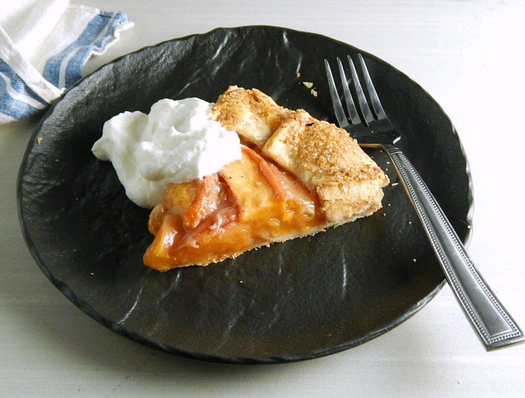 Bourbon Brown Sugar Peach Crostata