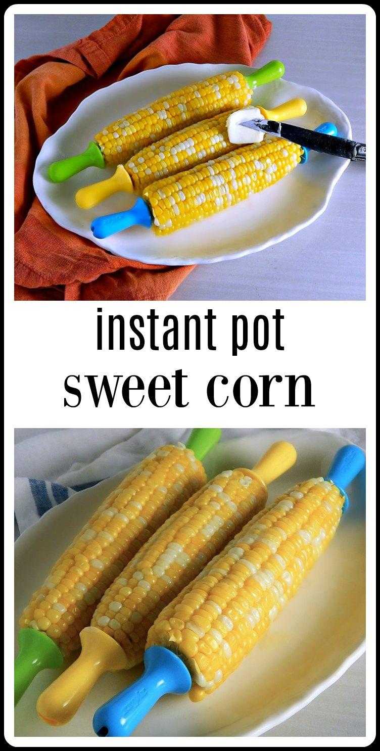 For the most flavorful, perfectly tender and plump sweet corn, no mess, no hassle, no boiling water, make Instant Pot Sweet Corn. #InstantPotCornontheCob #InstantPotSweetCorn