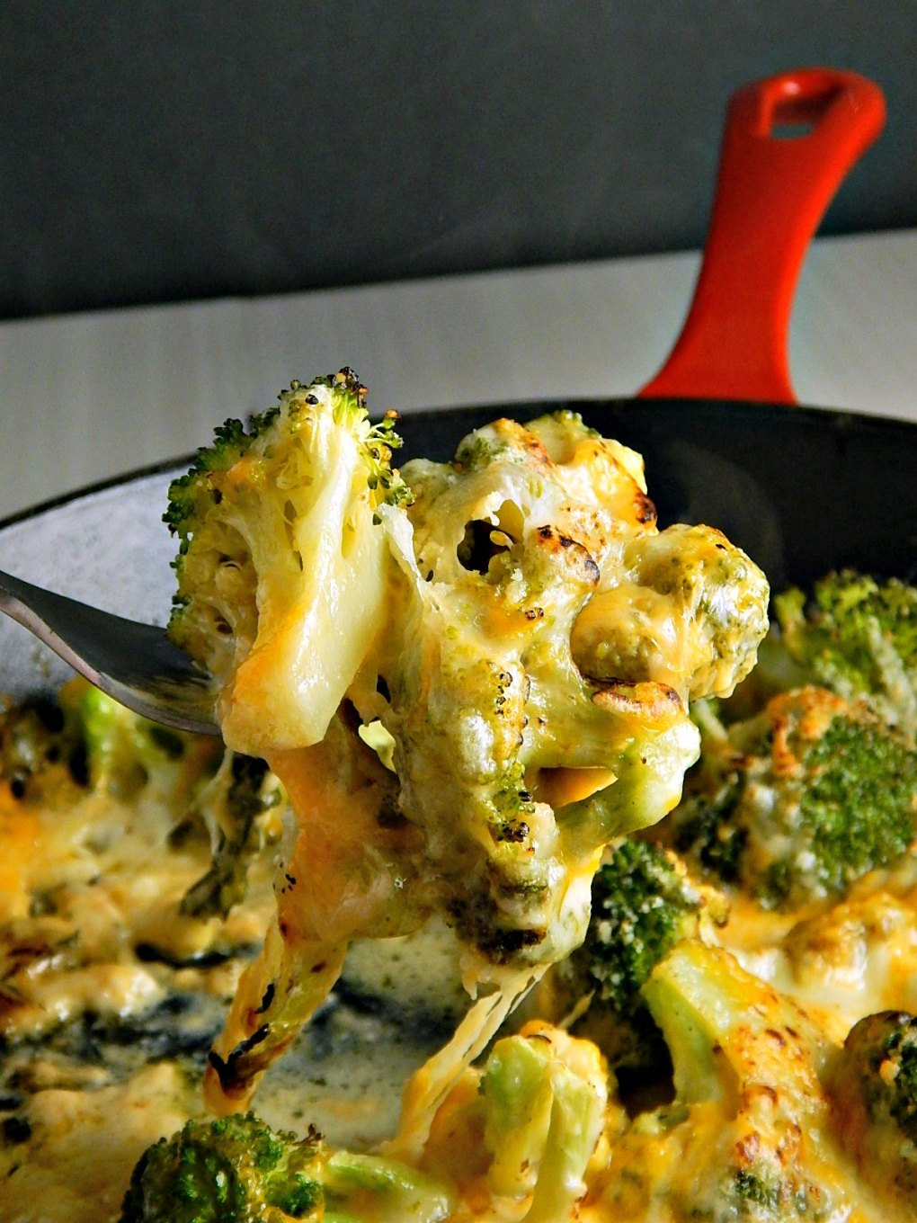Easy Cheesy Broccoli Skillet