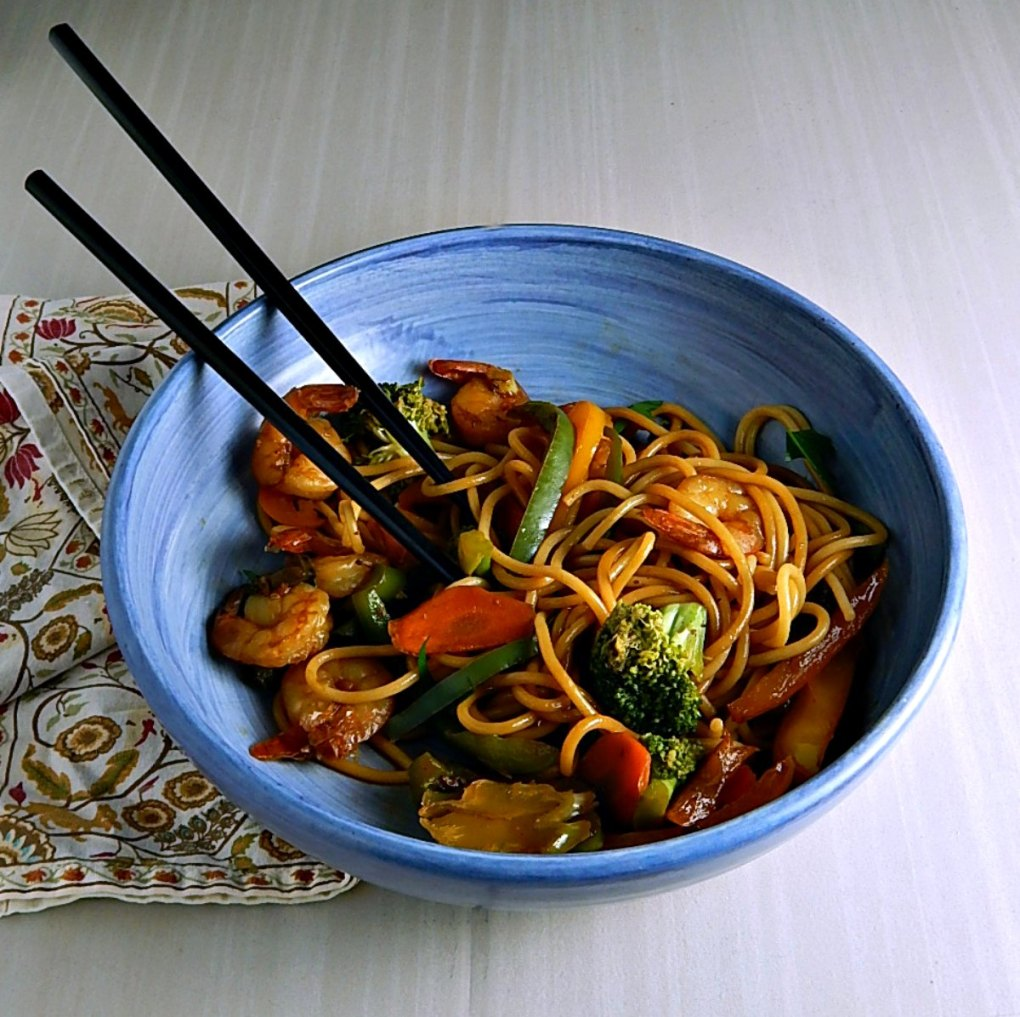 Easy Fast Shrimp Lo Mein