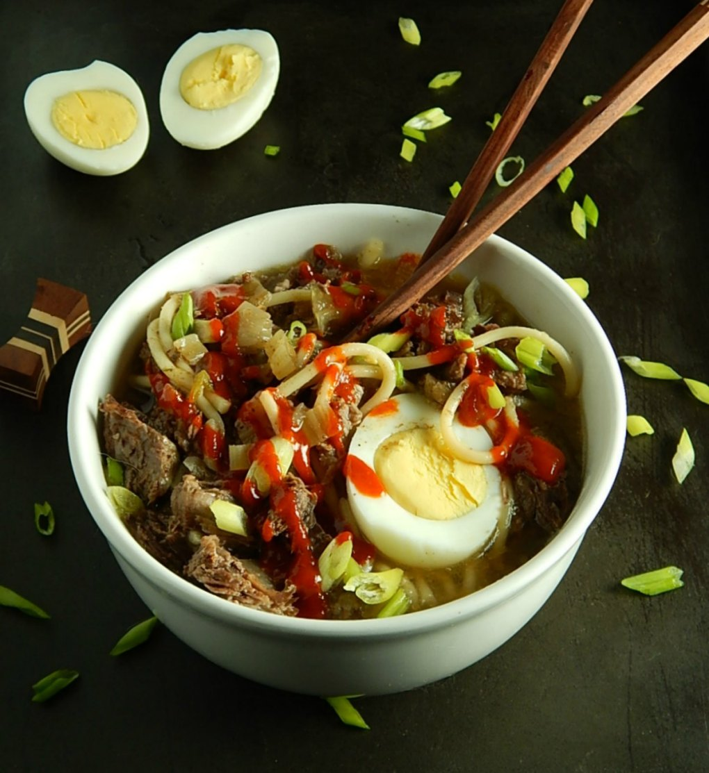 New Orleans Instant Pot Yaka Mein - Stovetop directions, too.