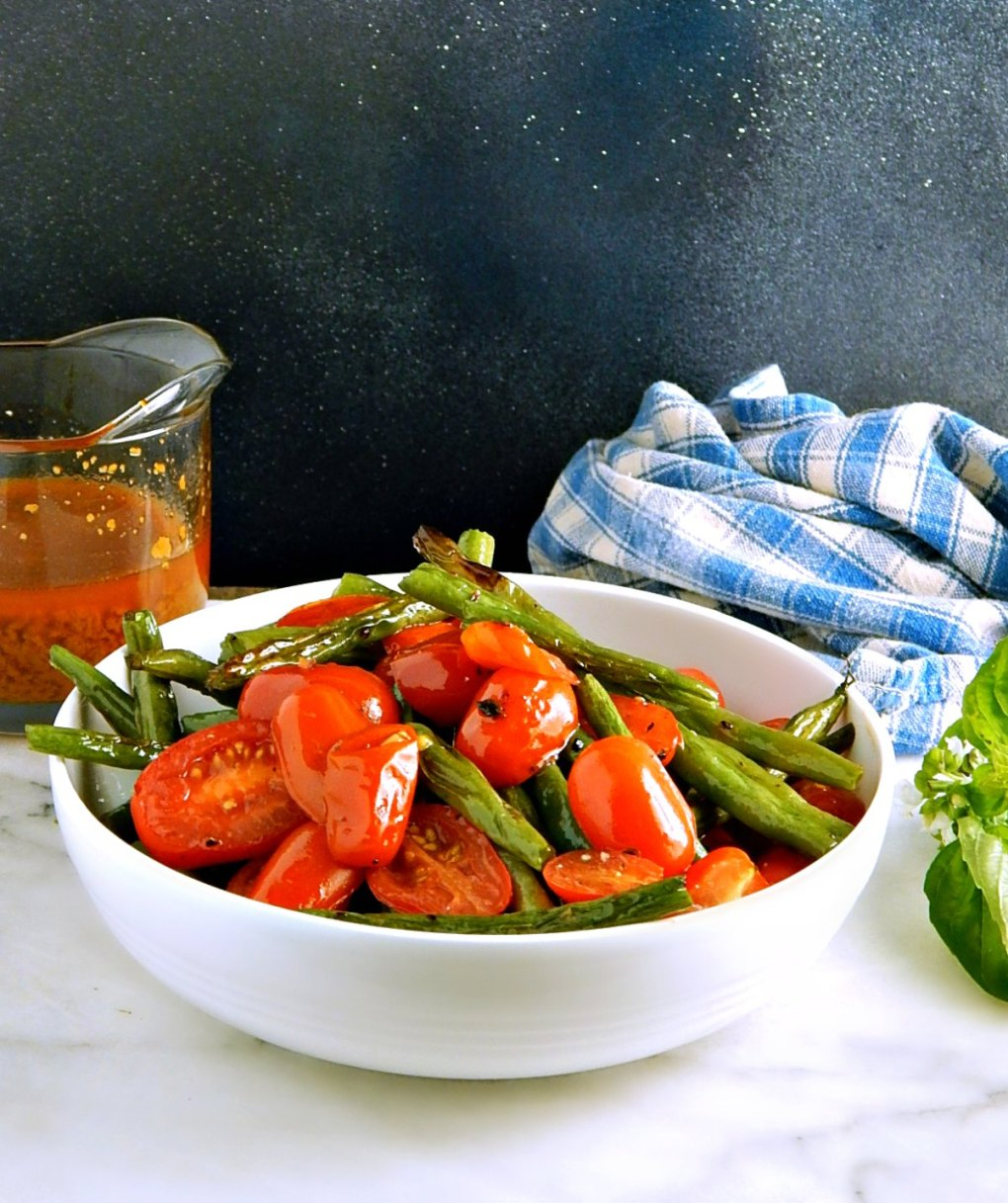 Oven Roasted Green Beans & Cherry Tomatoes