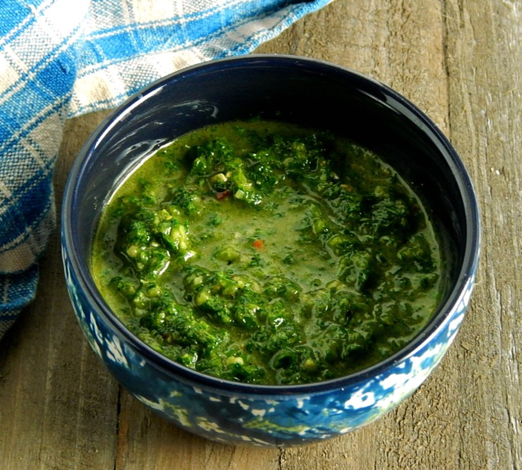 Zhoug, Zhug, Skhug - Spicy Herb Sauce
