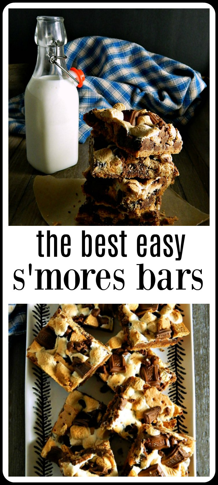 The Best Easy S'more Bars - super simple to make and they'll be the hit of the party! Graham Cracker, melty chocolate and ooey, gooey marshmallow! 30 minutes to make! #SmoresBars #BestEasySmoresBars #BestSmoresBars #EasySmoresBars