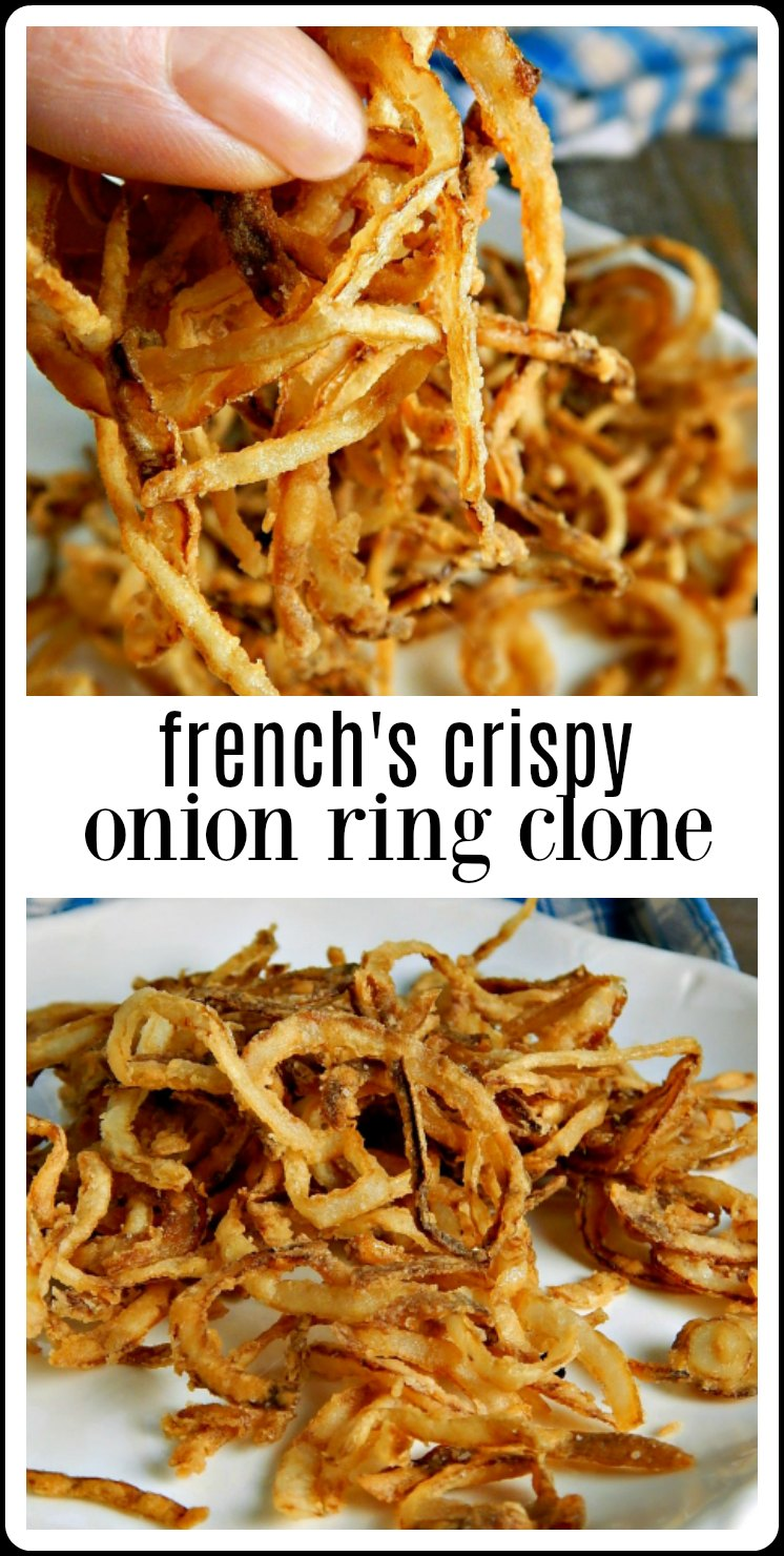 Minutes to make these Copycat French's Onion Rings are crispy, crunchy deliciousness and so much better than buying them in a can! #CopycatFrench'sOnionRings #HomemadeFrenchsOnionRings