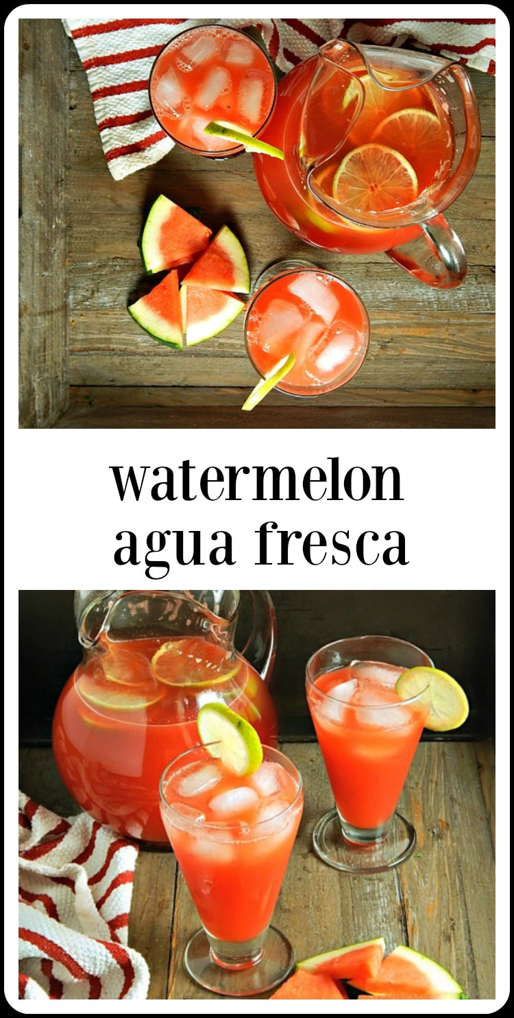 Just in case you didn't know, Watermelon Agua Fresca can be dangerous! You'll make it once and want it all summer long. #WatermelonAguaFresca #WatermelonJuice