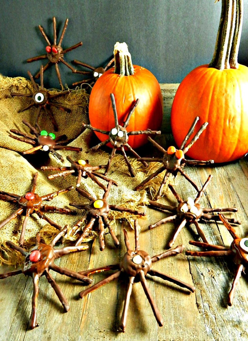 Chocolate Dipped Halloween Spiders