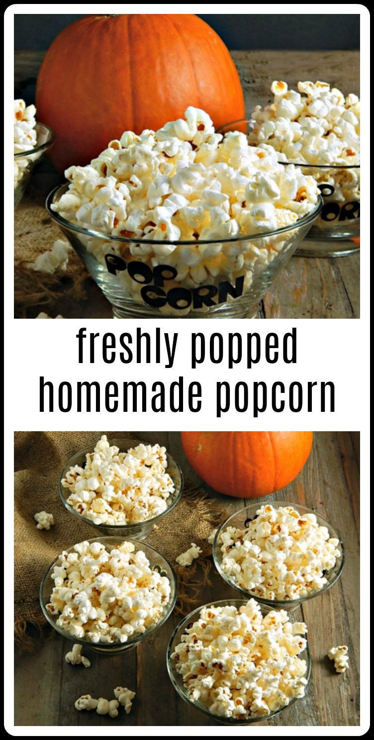 Maybe you've forgotten how good Freshly Popped Homemade Popcorn is! Minutes to make, a fraction of the cost of the microwave stuff plus lots of information on popcorn, nutrition & pricing! #HomemadePopcorn #FreshlyPoppedHomemadePopcorn