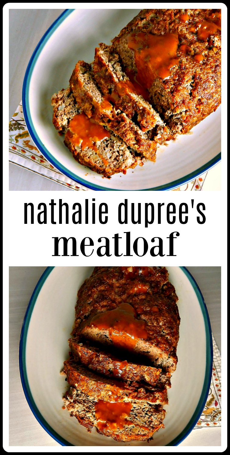 Nathalie Duprees Meatloaf is bound to become a family favorite. It\'s super easy and of course, delish, and that sauce takes it over the top! From a top Southern Chef, there\'s no going wrong with this one! #Meatloaf #NathalieDupreesMeatloaf