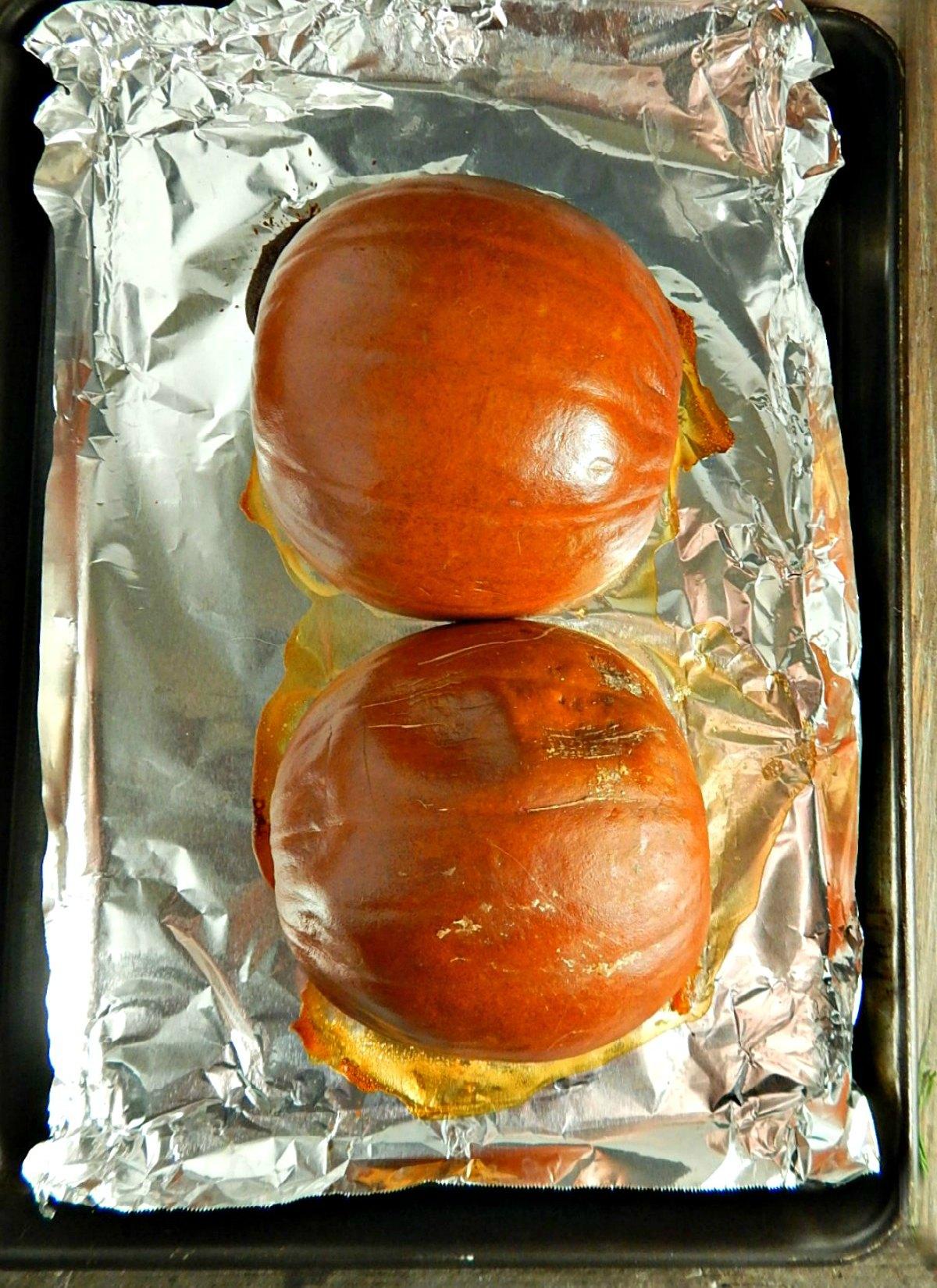 Pumpkins for Easy Homemade Pumpkin Puree, roasted