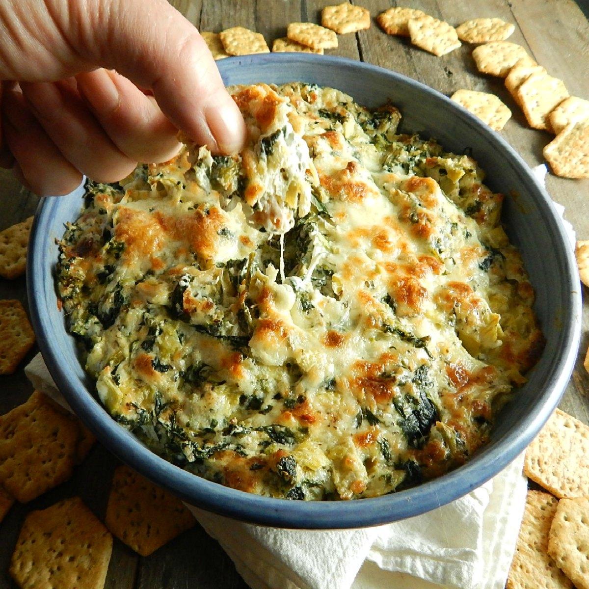 Hot Spinach Artichoke Dip Frugal Hausfrau