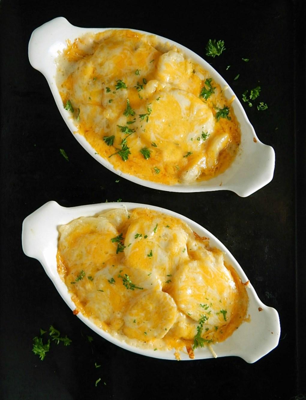Ruth's Chris Potatoes au Gratin Copycat make individual or one large casserole.