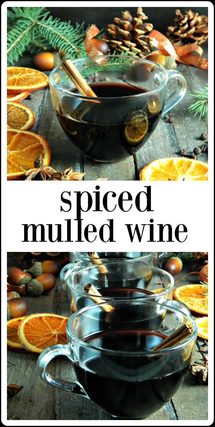 Spiced Mulled Wine is the perfect thing to warm you up from the inside out, especially during a winter party or holiday! So easy and makes the house smell incredible, too! #MulledWine #SpicedMulledWine