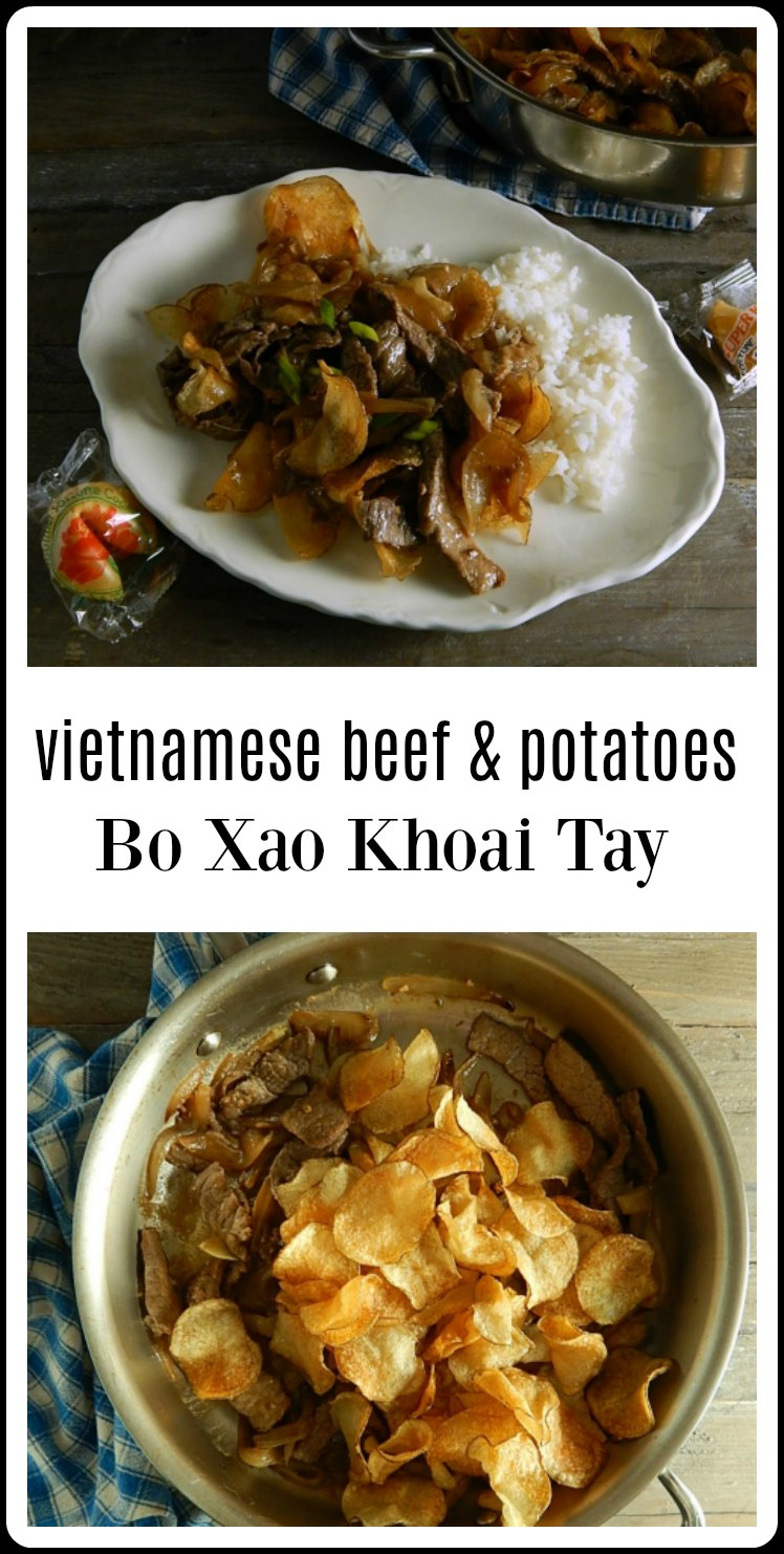 Vietnamese Beef & Potatoes Bo Xao Khoai Tay is so delish and your whole family will fall in love. Simple ingredients, Complex taste! #Beef&PotatoStirFry #VietnamesBeefPotato
