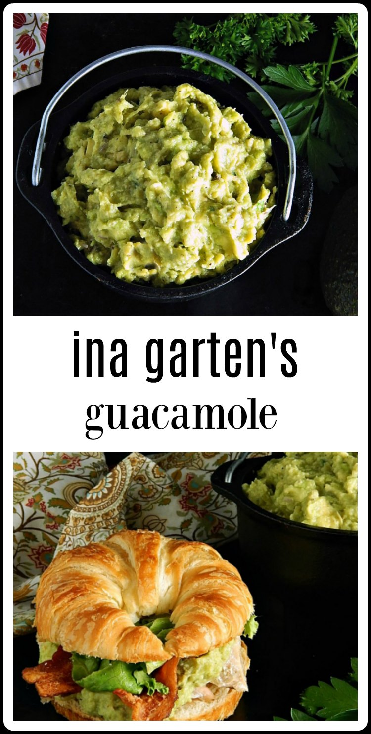 Ina Garten's Guacamole is super easy, fresh and very limey in flavor. It's great as a sandwich filling or as a dip for tortilla chips. #InaGartensGuacamole #Guacamole