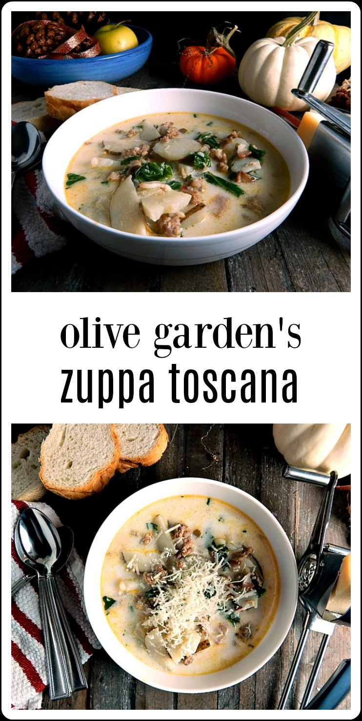 Olive Garden\'s Zuppa Toscana Copycat is comfort food; so flavorful. This is the OG original recipe from their website. Quick and easy. #ZuppaToscana #OliveGardenZuppaToscana #OliveGardenZuppaToscanaRecipe