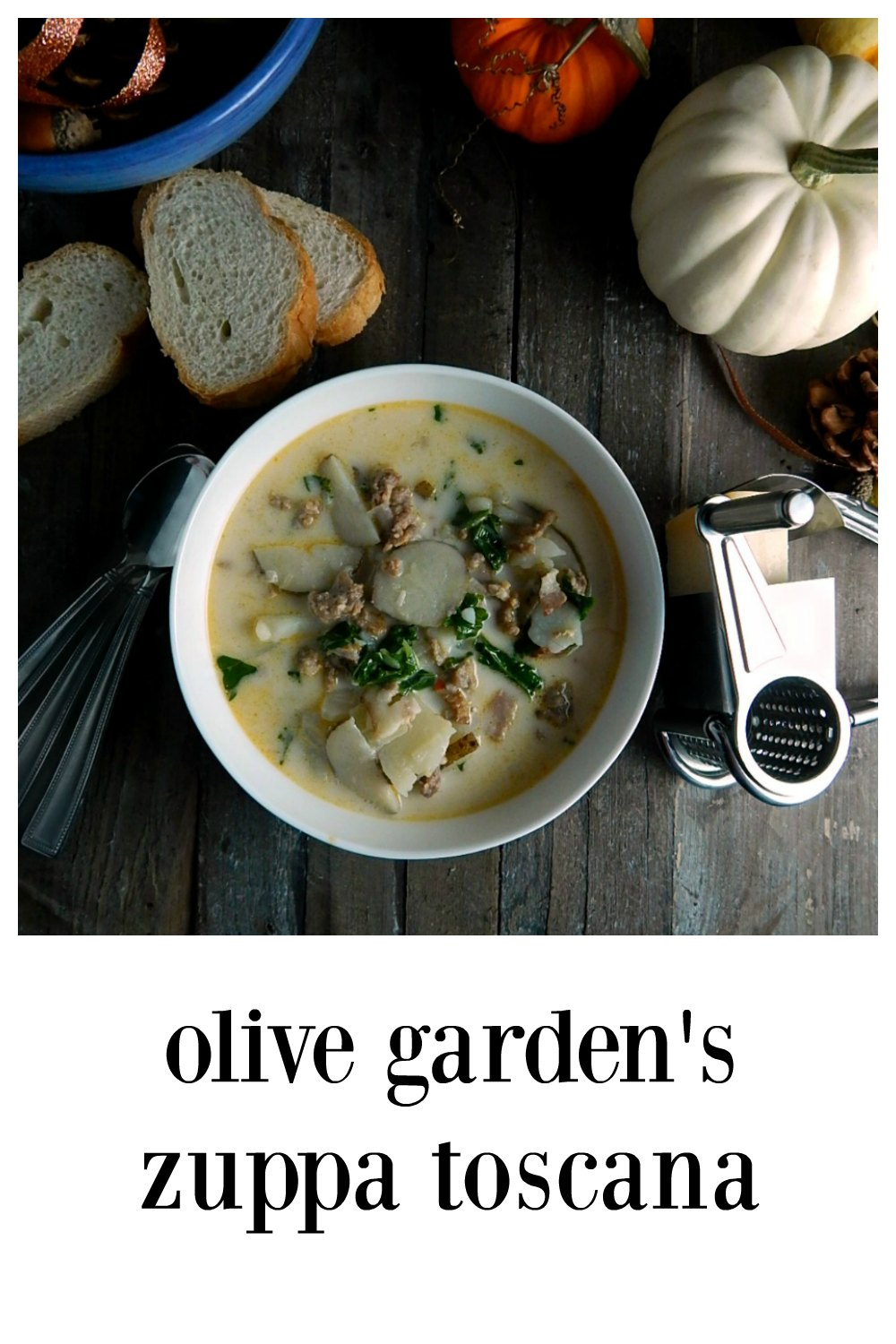 Olive Garden's Zuppa Toscana Copycat is comfort food; so flavorful. This is the OG original recipe from their website. Quick and easy. #ZuppaToscana #OliveGardenZuppaToscana #OliveGardenZuppaToscanaRecipe #TuscanSoup #Kale #OliveGardenCopycat #CopycatZuppaToscana