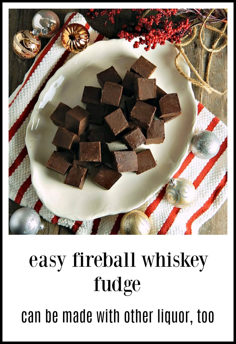 Fireball Whiskey Fudge is so easy it's hard to believe how good it is! It can be made with any kind of booze. Try it with Bailey's! Minutes to make; it does have to sit to firm up. #FireballFudge #FireballWhiskeyFudge #BaileysFudge #EasyFudge