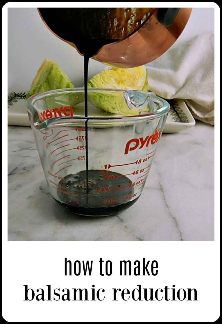 How to make and use a Simple Balsamic Reduction; you'll never want to buy it again after you see how easy it is to make at home. #BalsamicReduction #EasyBalsamicReduction