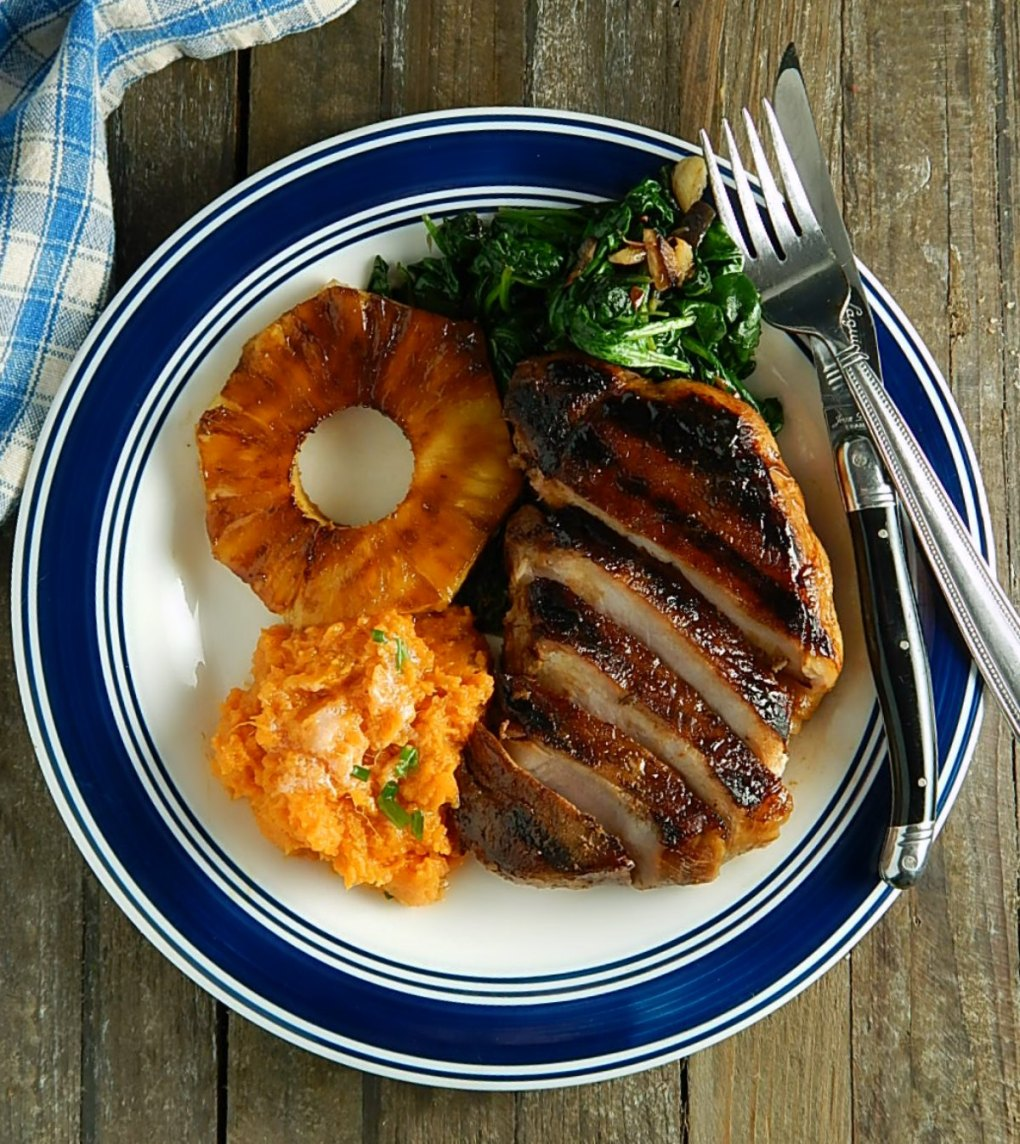 Grilled Hawaiian Pineapple Pork Chops