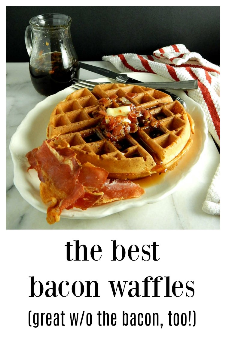These really ARE the best waffles, with bacon or without! Light, fluffy and crispy on the outside!
