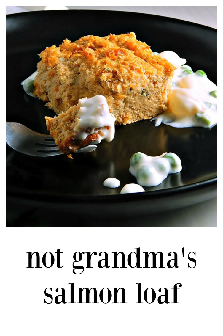 A little tweaking of the classic Salmon Loaf makes Not Grandma's Salmon Loaf, light, moist, souffle-like AND absolutely scrumptious! #SalmonLoaf #GrandmasSalmonLoaf #ClassicSalmonLoaf