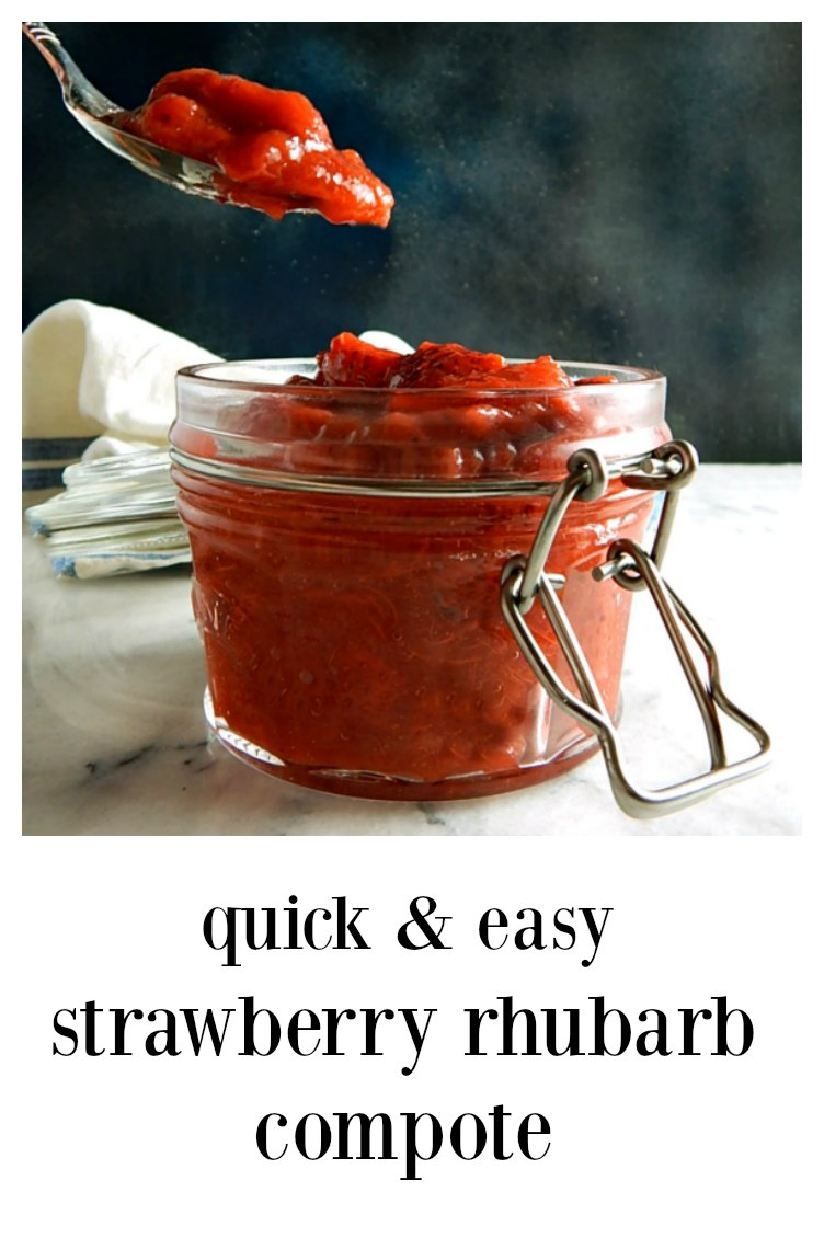 Pin Strawberry Rhubarb Compote