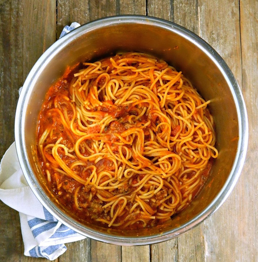 Simple Instant Pot Spaghetti