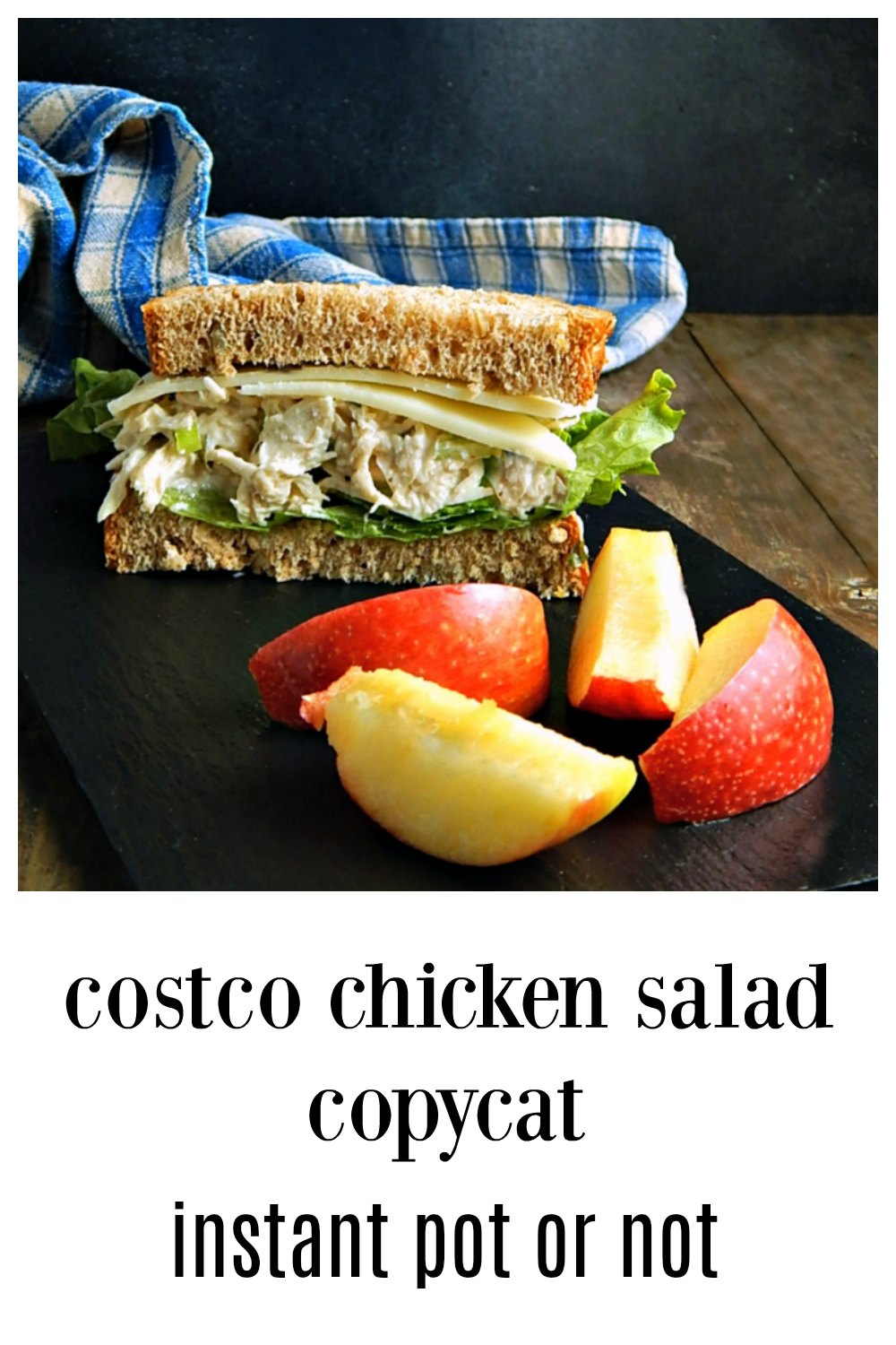 I fell in love with Costco's Chicken Salad - but not the ingredients. Check out my easy Copycat Costco Chicken Salad made in the Instant Pot or Not! This is a fantastic, Old Fashioned Chicken Salad - and it's easy! #CostcoChickenSalad #CostcoChickenSaladInstantPot #ChickenSalad