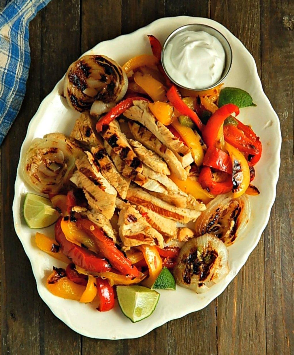 Classic Grilled Chicken Fajitas