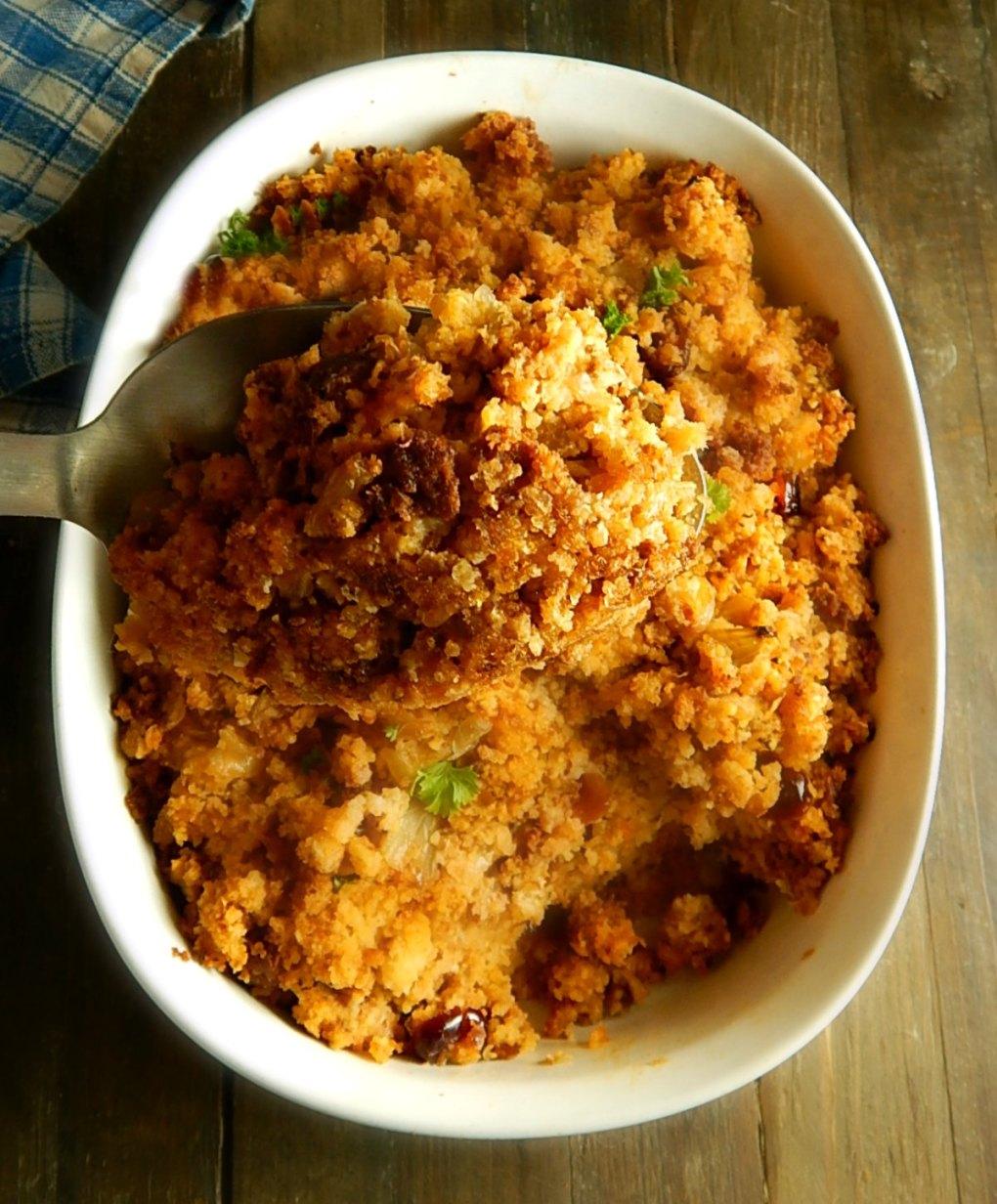 Chorizo & Cranberry Cornbread Stuffing