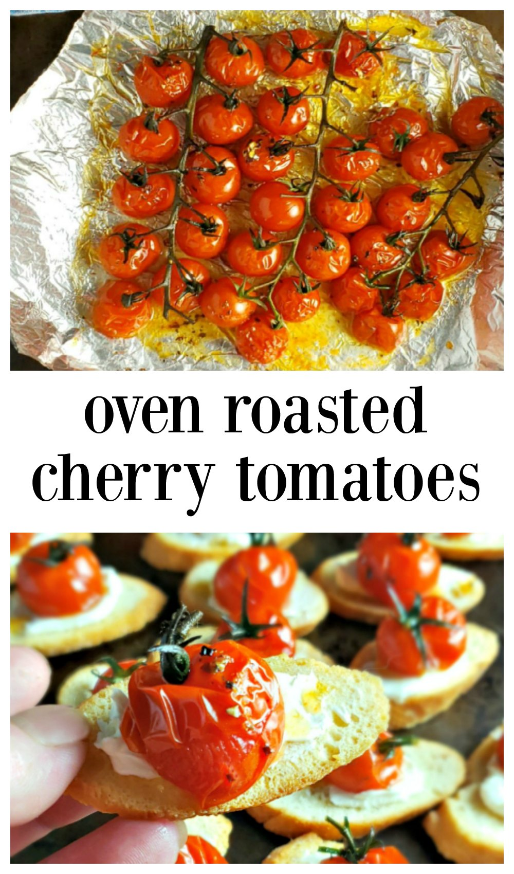 Oven Roasted Cherry Tomatoes are so simple, so easy, it's hard to believe they're so good! You'll see my easy method & ways to use these beauties! #CherryTomatoes #OvenRoastedCherryTomatoes #EasyRoastedCherryTomatoes