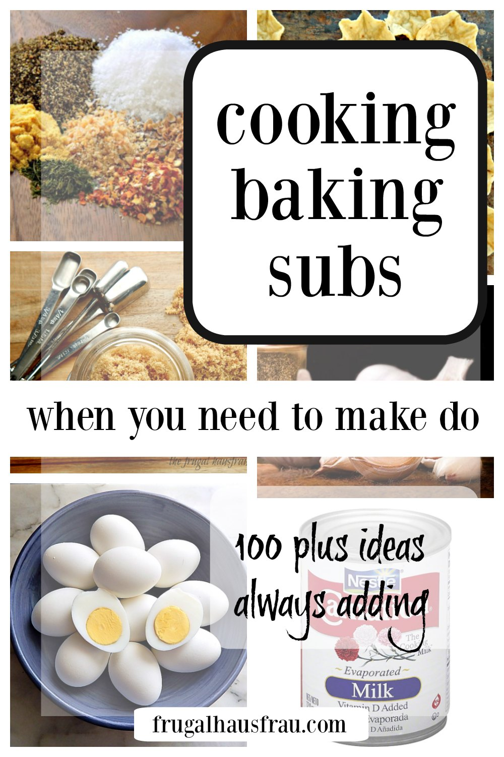 Common Cooking Substitutions