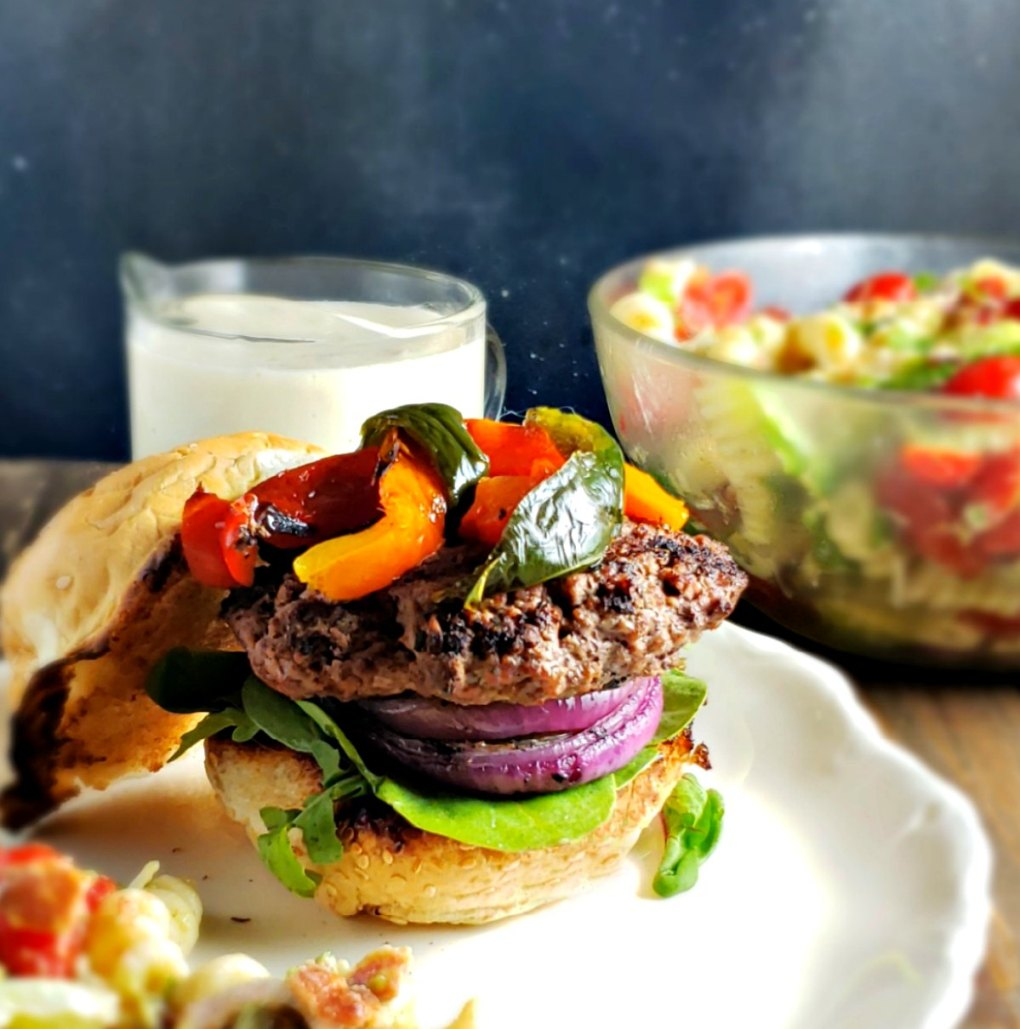 Southwestern Queso Burgers