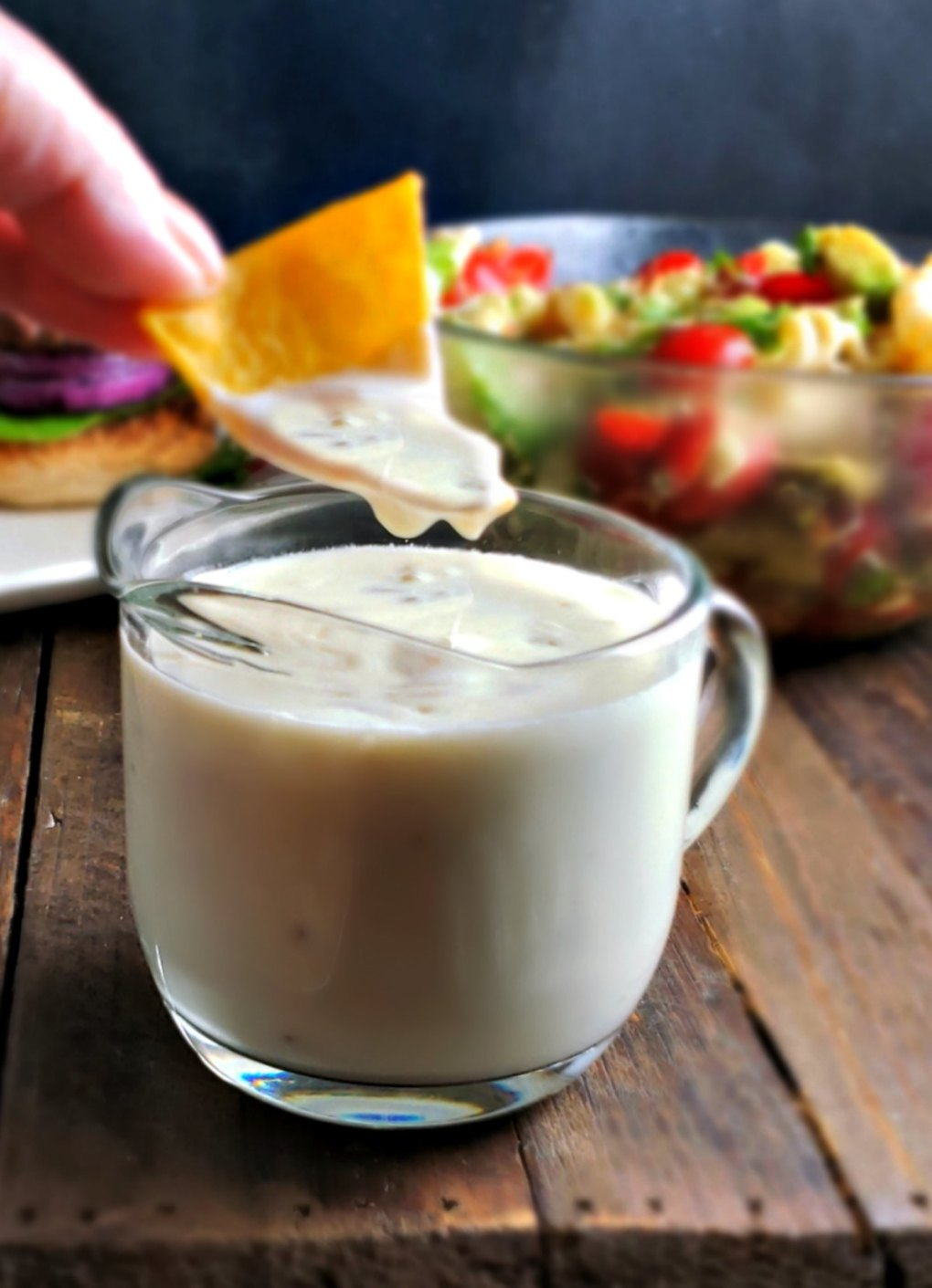 Queso Blanco for Southwestern Queso Burgers